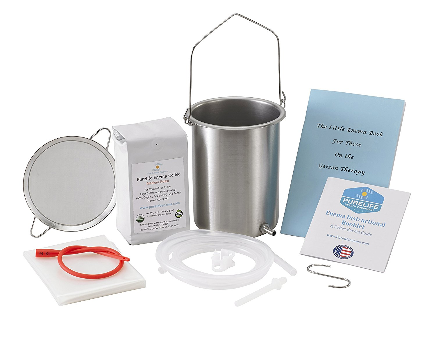 "PureLife ""All You Need"" Coffee Enema Kit- USA Stainless Steel"