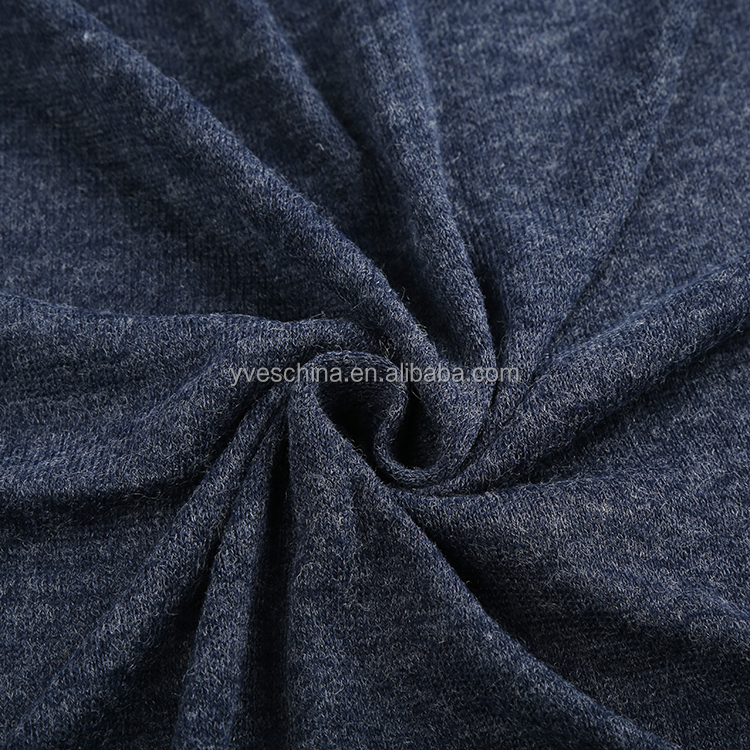 Custom fashion winter clothing material fabric soft cashmere knit fabric