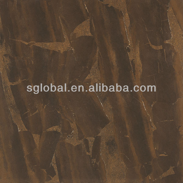 brown color polished porcelain tiles 80x80 marble stone design for shopping mall