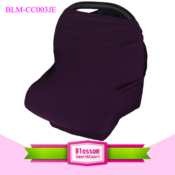 Baby Car Seat Cover Canopy and Nursing Breastfeeding Cover Scarf Newborn Pillow High Chair Stretchy Blank Cotton Cart Cover Baby