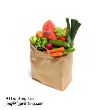 51acd3297b4 Retail Sos Brown Kraft Paper Grocery Bag With Flat Handle - Buy ...