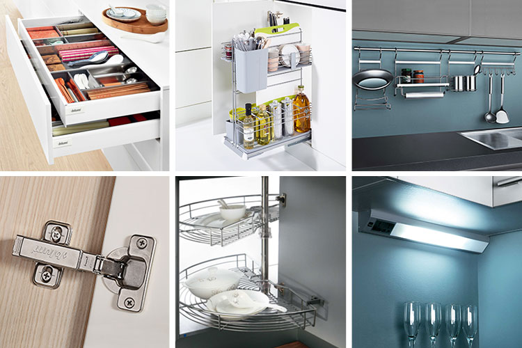 One-stop solution service modular acrylic kitchen cabinet with island set