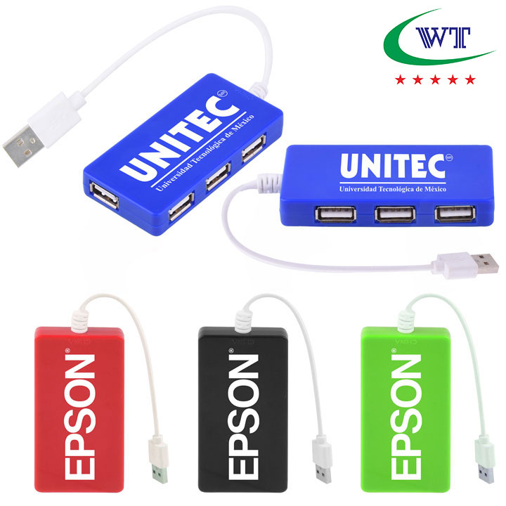 New Design Promotional Traveler 4 Port USB Hub