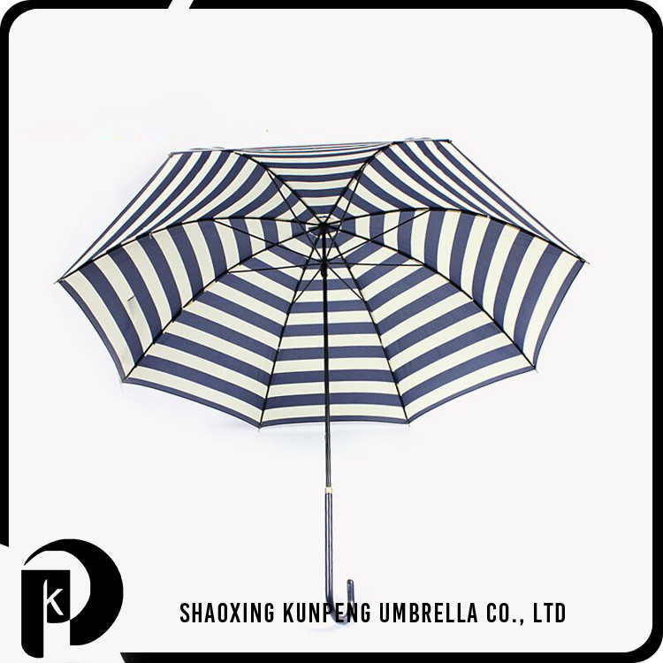 Rainbow fabric promotional striped color market umbrella two person large stormproof rib straight umbrella cheap straight umbrel