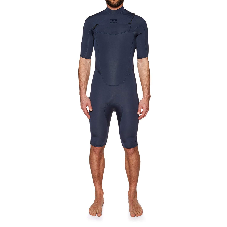 99111de4f0 Get Quotations · Billabong 2mm 2018 Absolute Chest Zip Short Sleeve Wetsuit  Medium Short Slate