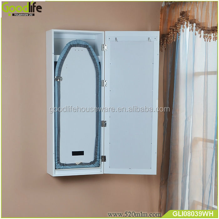 Hidden Wall Mounted Folding Ironing Board With Cabinet