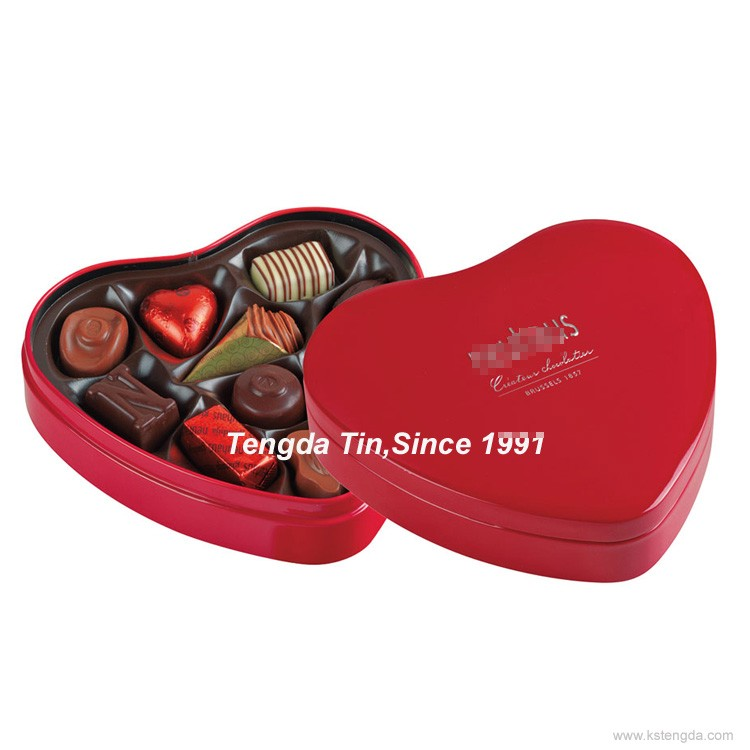 heart shape tin box wedding favors/packaging box for wholesale
