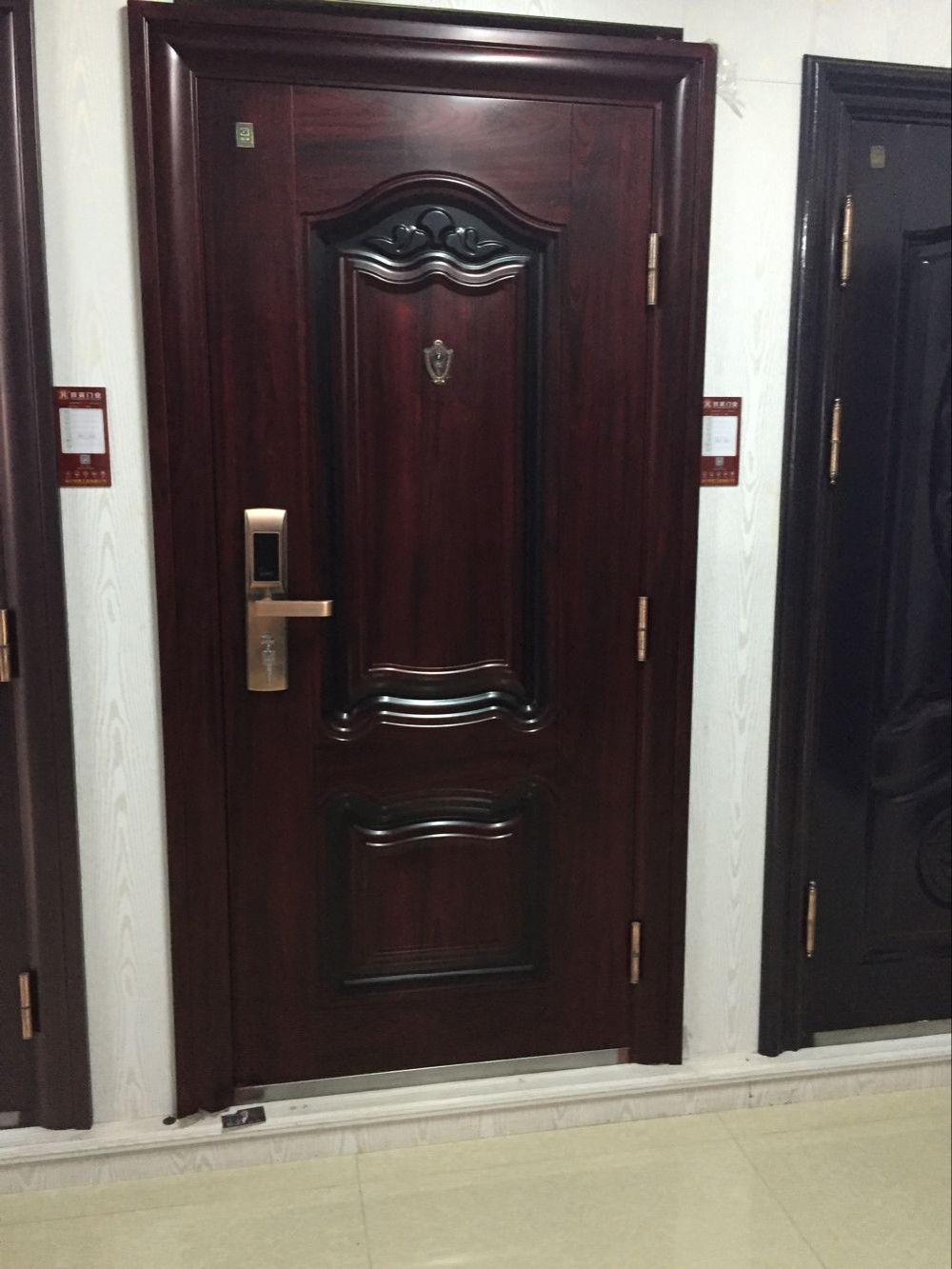 Grill door price best price modern entry stainless steel for Big main door designs