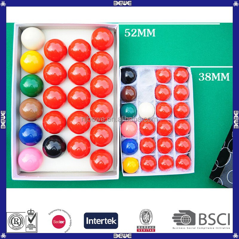 advertising OEM design various sizes snooker ball set