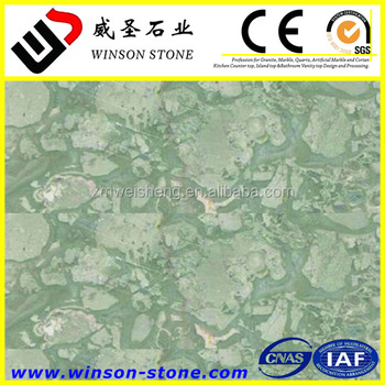 Light Jade Greenland Grey Marble Tile For Flooring Table Top 15x15