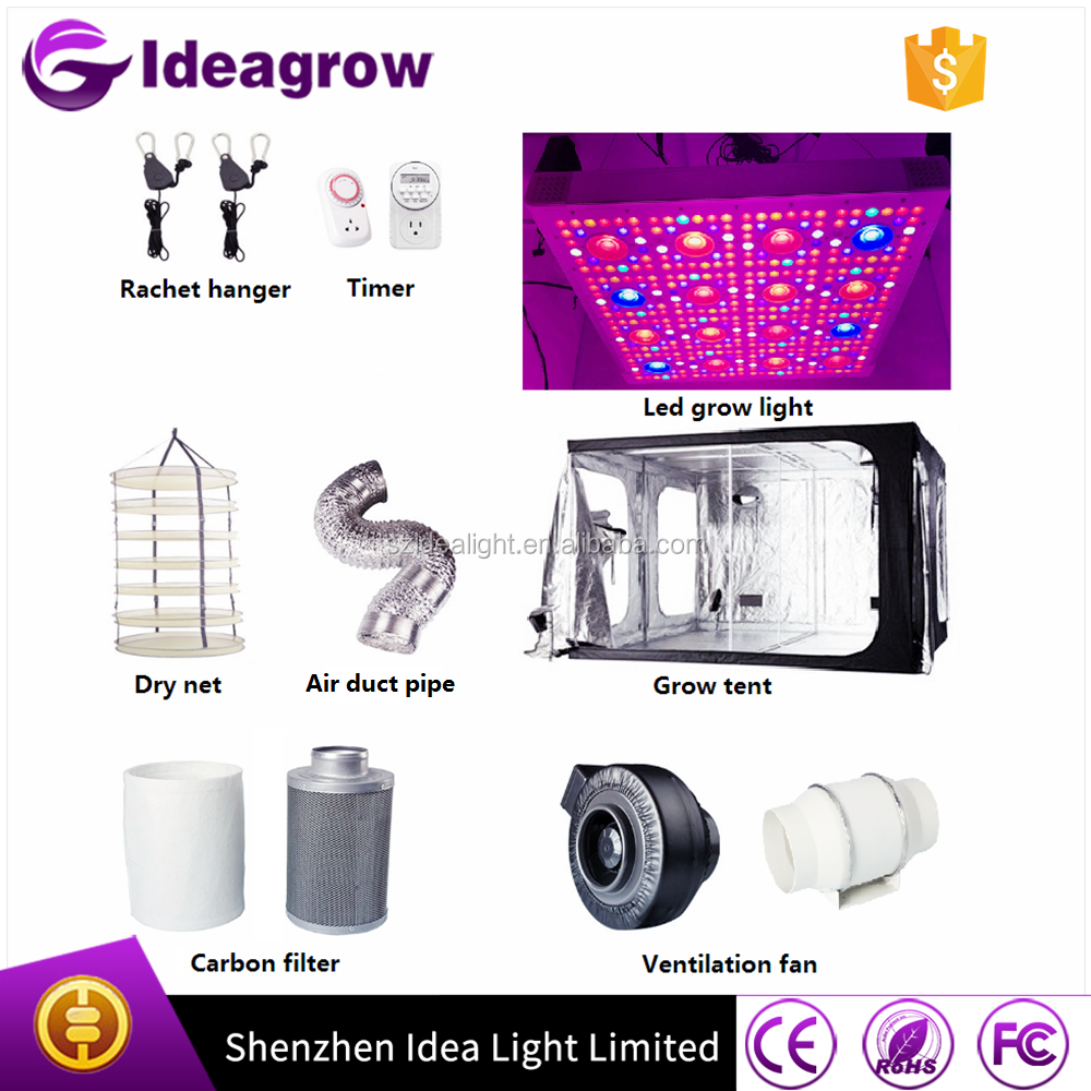 Ideagrow 600w grow light kit/ hydroponics indoor equipment grow tent kits 1000w hps / hid system