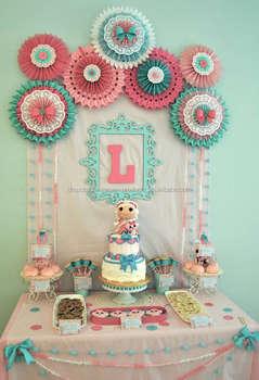 paper fans baby shower party ideas decor planning decorations pastel