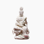 Hand-Made Gifts Hot Sale Religious Crafts Ceramic Figurine Guanyin Buddha Statue