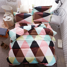 New colorful grid bed sheet set 4pcs bedding sets