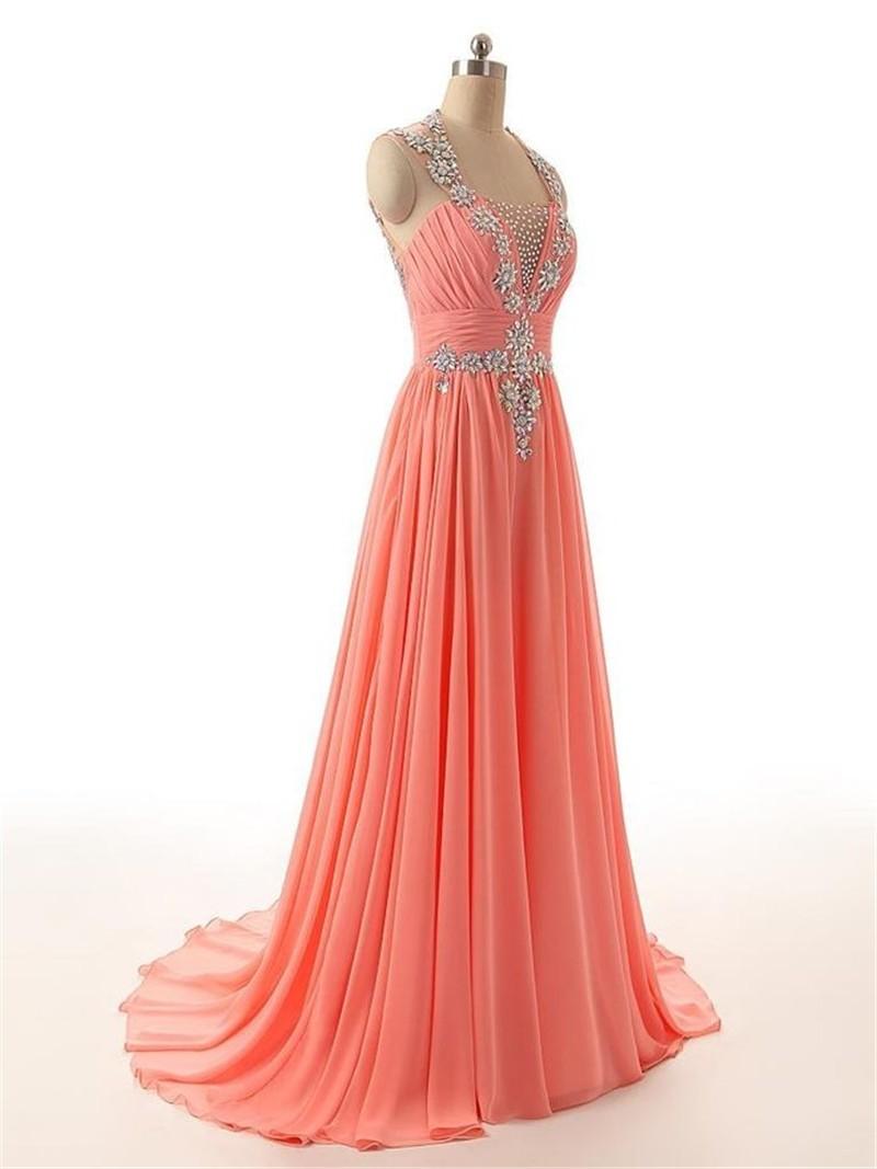 Robe De Soiree Dubai Abendkleider Lange 10 Hohe Qualität Platz Gorgeous  Kristallen Perlen Pailletten Chiffon Abendkleid Vestidos - Buy Lange