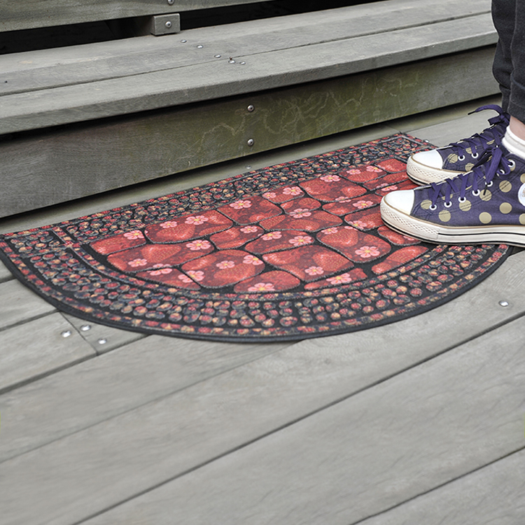 Hot sell rubber flocking customized door mat