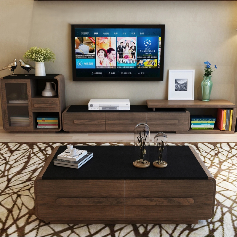 Living room furniture sets new model tv stand wooden furniture tv showcase