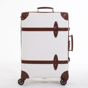 eminent suitcase trolley vintage luggage set leather vintage luggage