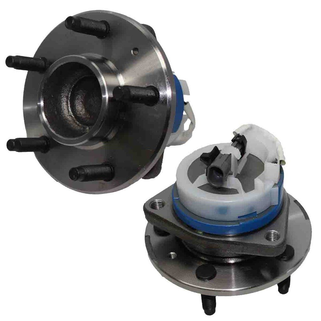 Detroit Axle - PAIR of Brand New Front Driver and Passenger Side Wheel Hub and Bearing Assembly w/ABS for - Malibu, G6, Aura