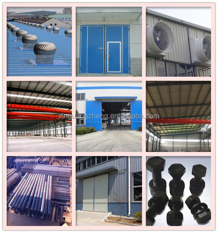 Overhead crane equiped and truck accessible rice storage steel structure warehouse