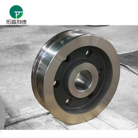 High duty crane usage rail forged steel wheel