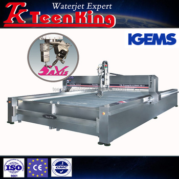 5 Axis 3d Waterjet Cutting Machine With Height Sensor And Igems Software -  Buy Marble Cutting Machine,Water Jet Cutting Machine,Water Jet Product on