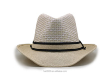 2017 High quality summer floppy panama beach straw hats for women men vogue classic jazz sun hat sombrero