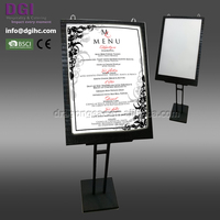 LED lighting menu display stands restaurant 2017 led menu led light cover with high quality wholesale price