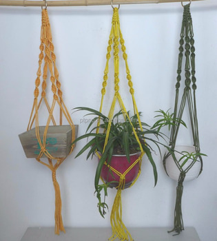 colorful macrame hanger