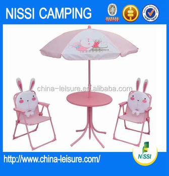 High Quality Folding Kids Patio Set/ Kids Outdoor Furniture/table And  Chairs Set