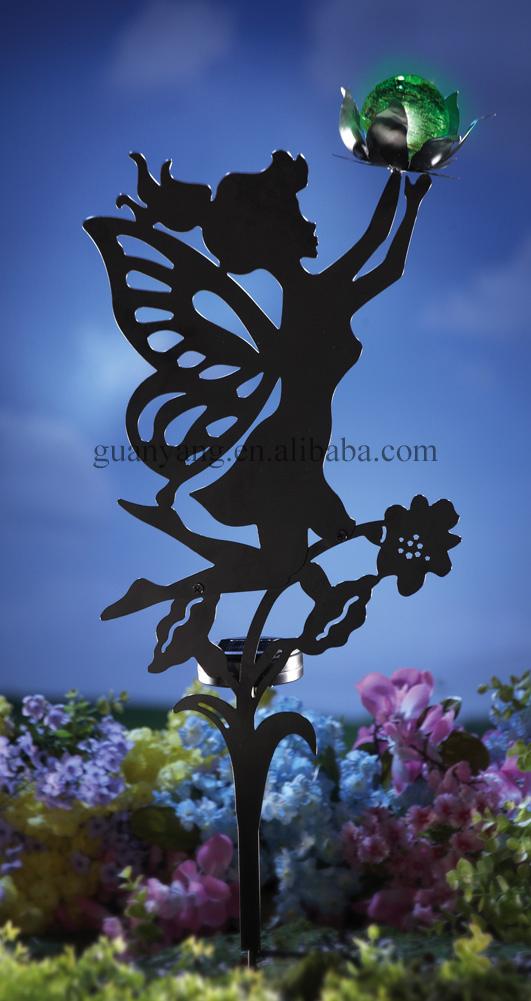 Metal Fiber Optic Flower Fairies Garden Decorative Stake Buy
