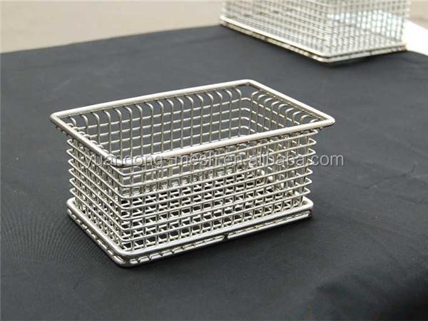 Stainless Steel Basket Durable Fry Metal Wire Storage