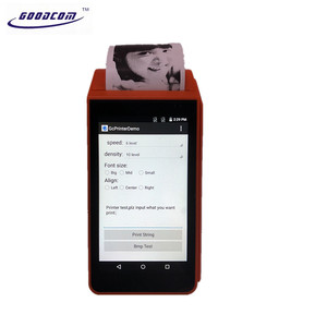 Smart Android Equipment Handheld Devices Mobile POS System Thermal Receipt Printer with Dual SIM Card for USSD Mobile Recharge