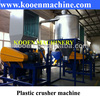 Plastic crusher machine plant for waste used plastic recycling