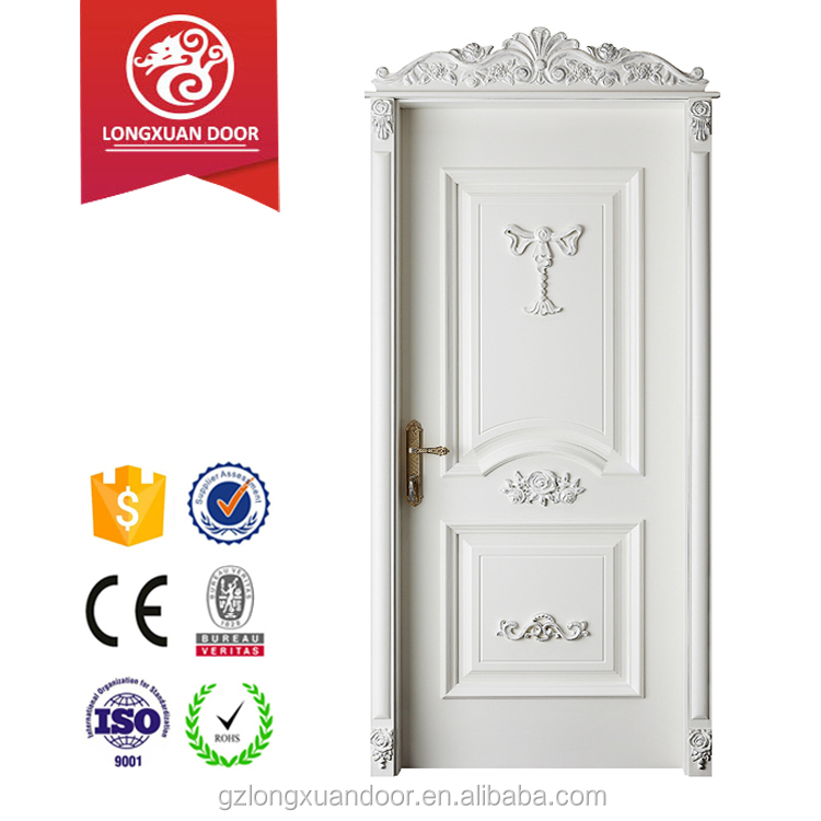 Senior taste french style 100% teak wood door design for apartment entrance decoration choice