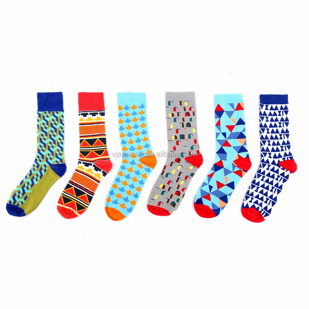 Wholesale socks retro trendy color custom made cotton socks