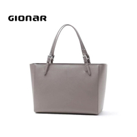 2019 Gionar Tote Hand Bags Buyer Make Your Own Leather Purses And Fashion Black Real Full Plain Leather Lady Handbags Custom