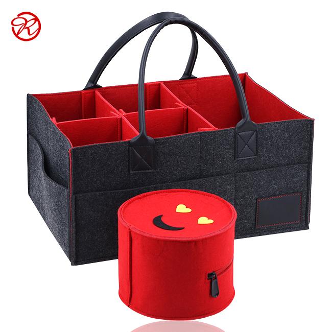 Hot Sale Customized Felt Baby Dapper Caddy Kids Nursery Storage Bin With  Extra Smile Bag - Buy Felt Diaper Caddy,Felt Nursery Storage Bin,Felt Nappy