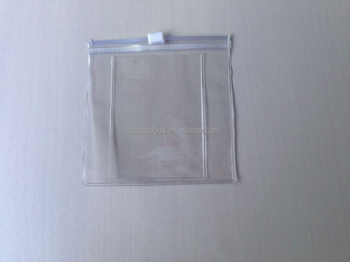 Clear Pvc Plastic Bag With Snap Button Pvc Zipper Bag