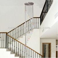 Modern rainbow LED crystal/acrylic chandeliers ceiling