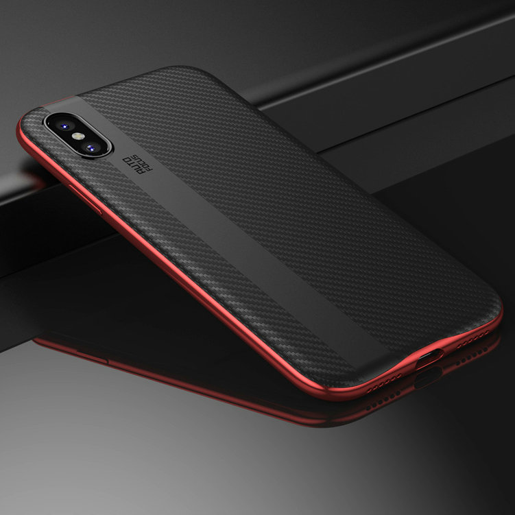 Ultra Thin Soft Silicon Protective Camera case Shatter Proof Carbon Fiber Drawing for iphone X for ipnoneX