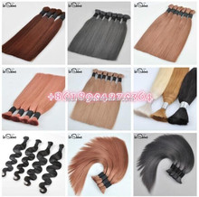 Human hair bulk bulk buy from china qingdao hair factory double drawn virgin hair