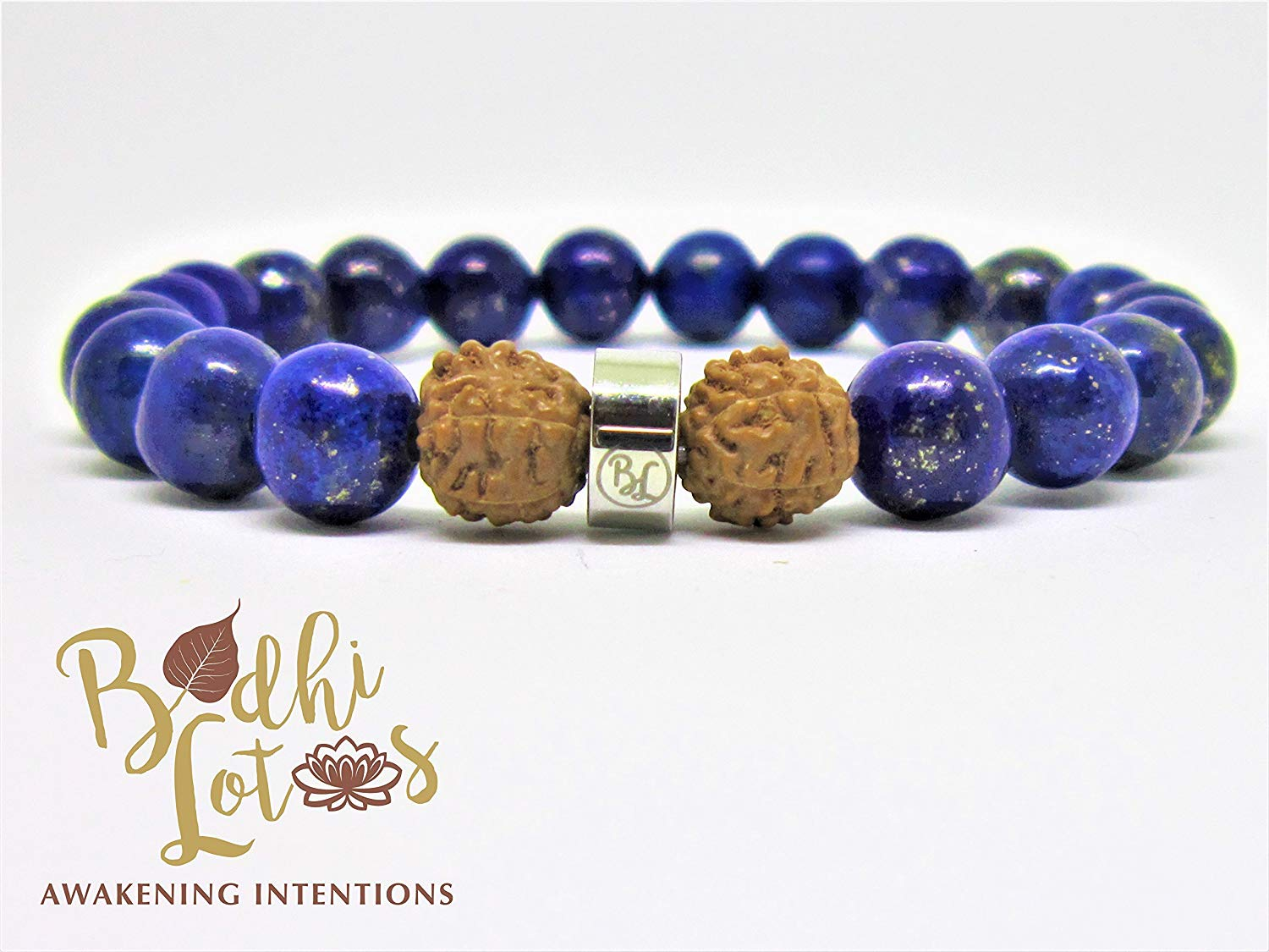 Angelite and Lapis Lazuli Healing Butterfly Bracelet Intuition Genuine Arfvedsonite