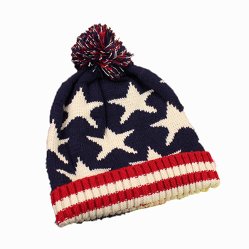 3ac0acfdda17e5 The British Flag Stars Stripe Beanies Thickening Warm Wool Hat - Buy ...
