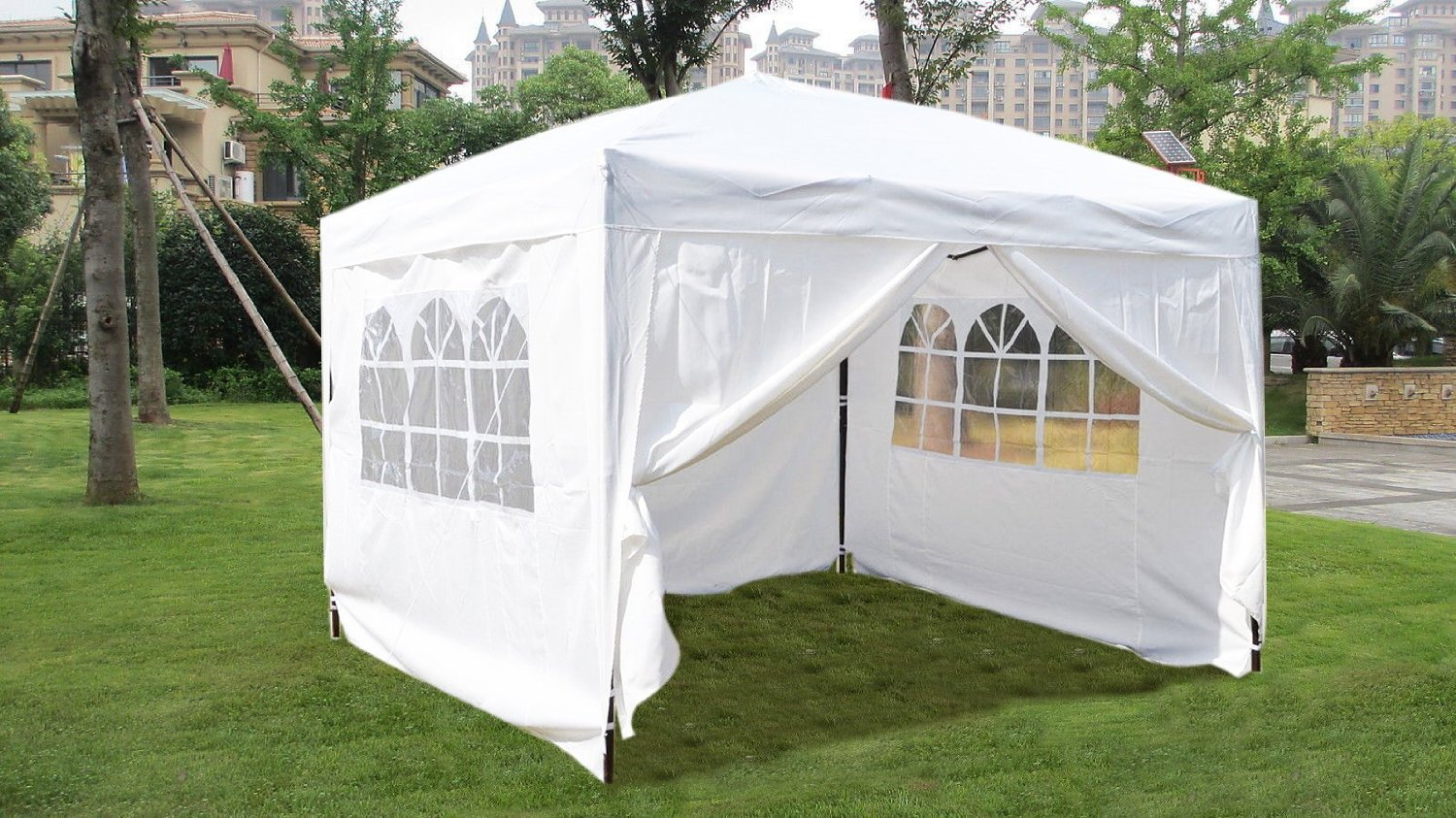 Get Quotations · 10x10 EZ Pop UP Wedding Party Tent Folding Gazebo C&ing Canopy W/ Sides & Cheap Camping Pop Up Canopy find Camping Pop Up Canopy deals on ...