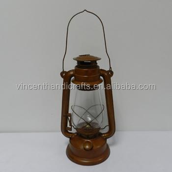 Country Old History Hanging Rustic Metal Oil Lamp Kerosene