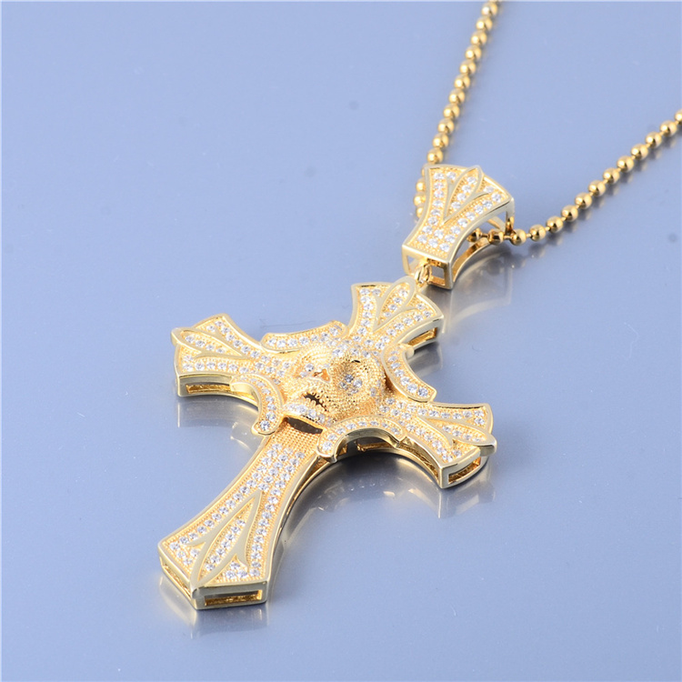 Custom 925 Sterling Silver 18k Gold Plated Cz Cross Pendants - Buy  Pendants,Silver Pendant,Custom Pendant Product on Alibaba com