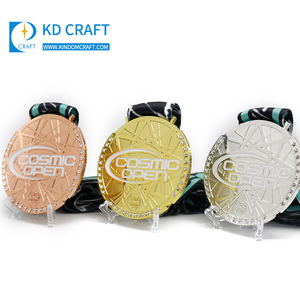 Wholesale high quality custom iron stamped gold silver bronze baseball badminton medals trophies