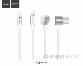 HOCO U18 LTN + Micro USB Charging Data Cable 1.2m braided 2 in 1 universal charger cable for HC008