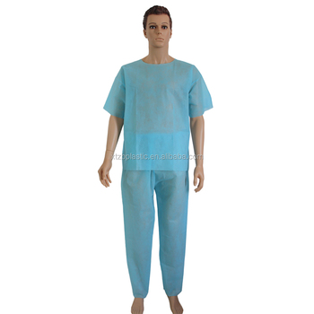Hospital Waterproof Disposable Medical Operation Room Patient Gown ...